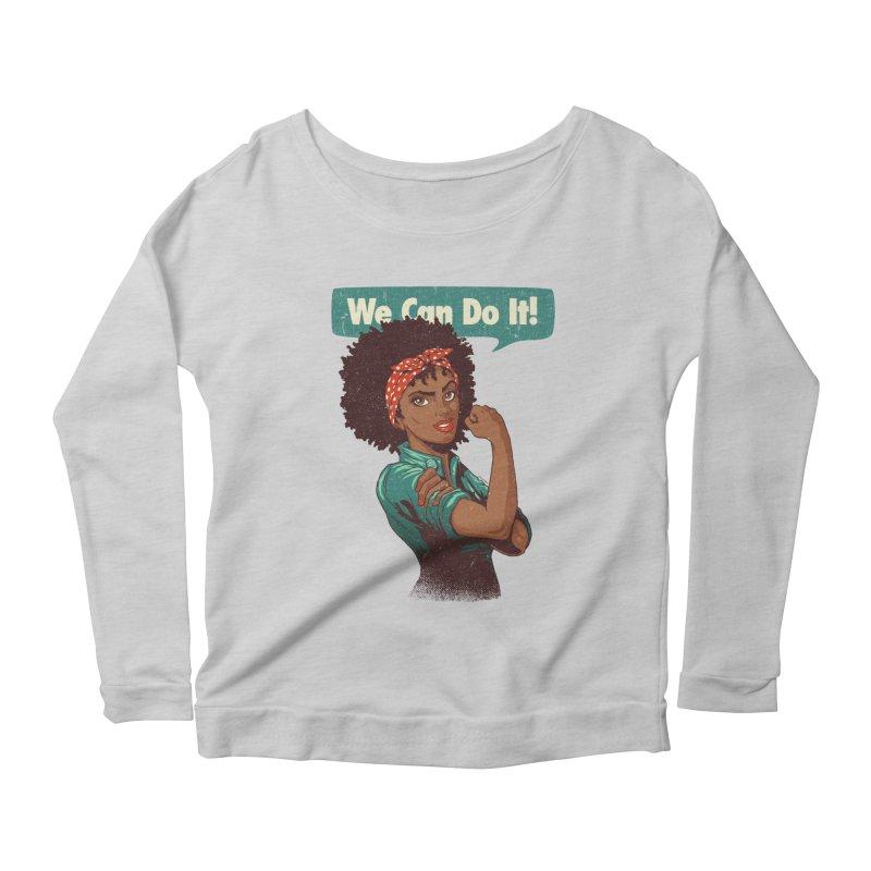 We Can Do It! Women's Scoop Neck Longsleeve T-Shirt by Vó Maria's Artist Shop