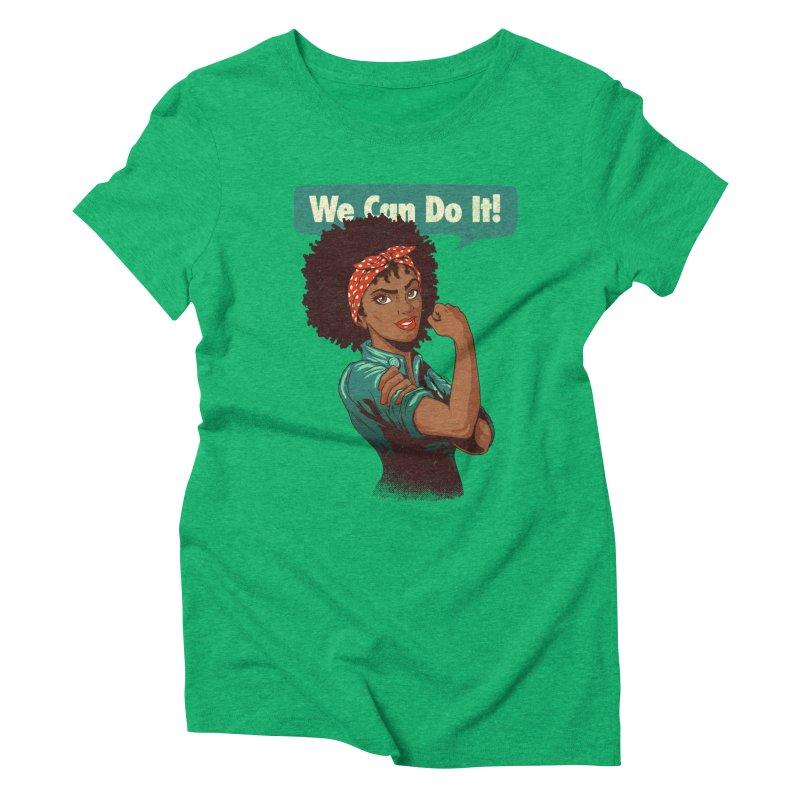 We Can Do It! Women's Triblend T-Shirt by Vó Maria's Artist Shop