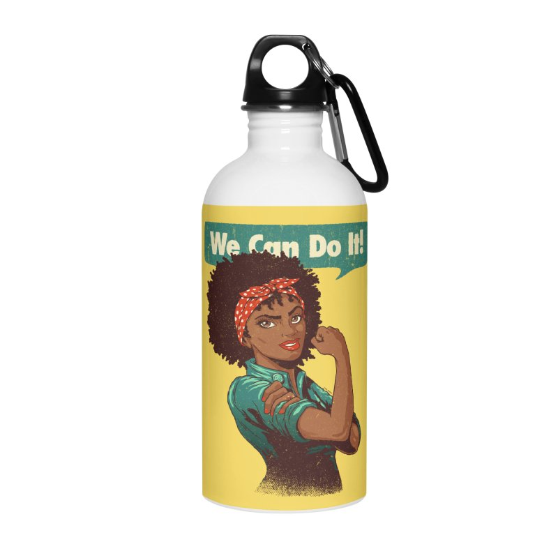 We Can Do It! Accessories Water Bottle by Vó Maria's Artist Shop