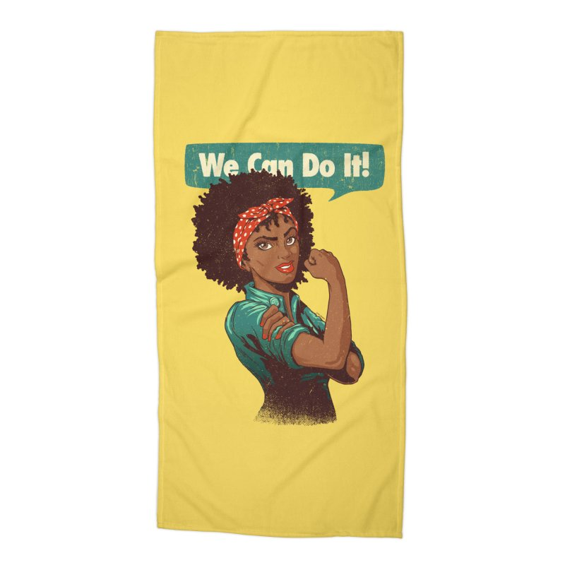 We Can Do It! Accessories Beach Towel by Vó Maria's Artist Shop