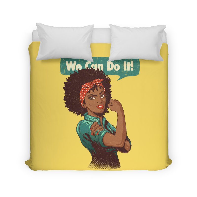 We Can Do It! Home Duvet by Vó Maria's Artist Shop