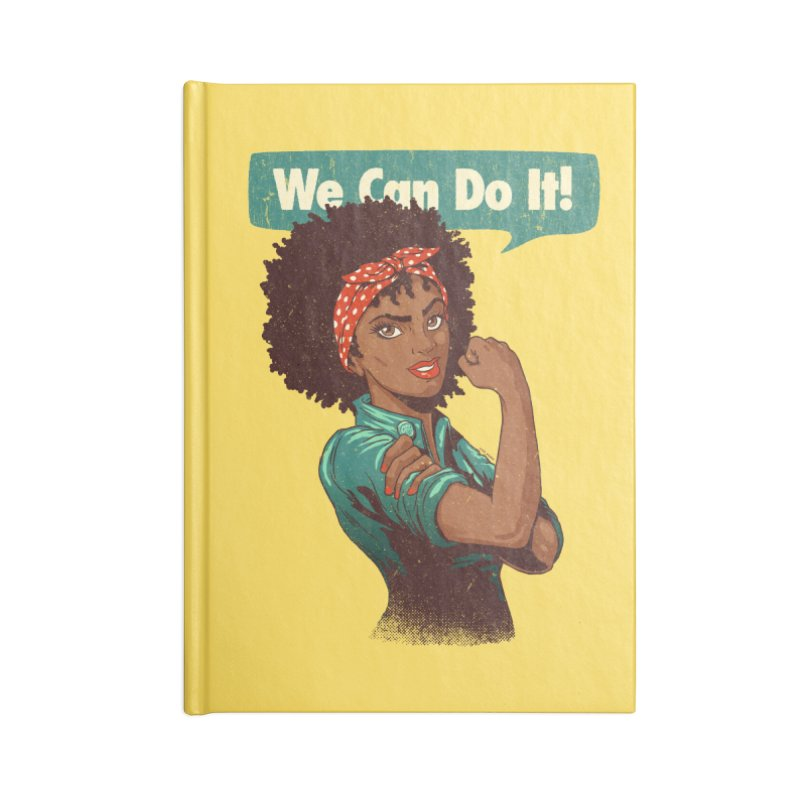 We Can Do It! Accessories Notebook by Vó Maria's Artist Shop