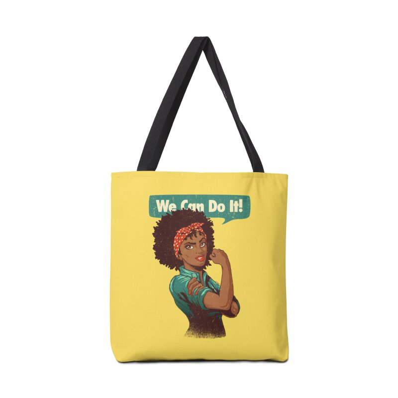 We Can Do It! Accessories Bag by Vó Maria's Artist Shop
