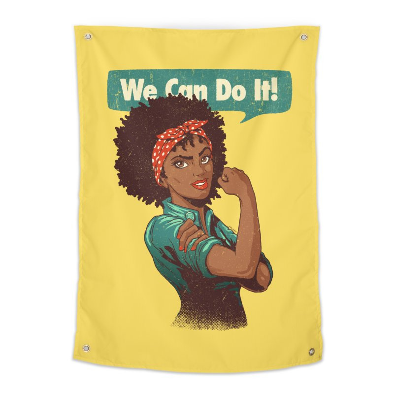 We Can Do It! Home Tapestry by Vó Maria's Artist Shop