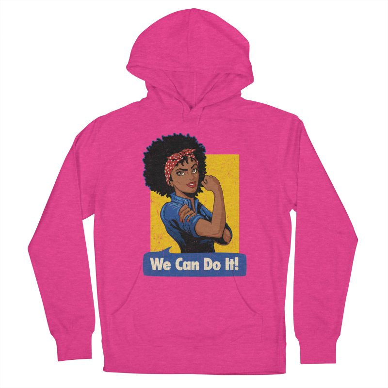 We Can Do It! V2 Women's French Terry Pullover Hoody by Vó Maria's Artist Shop