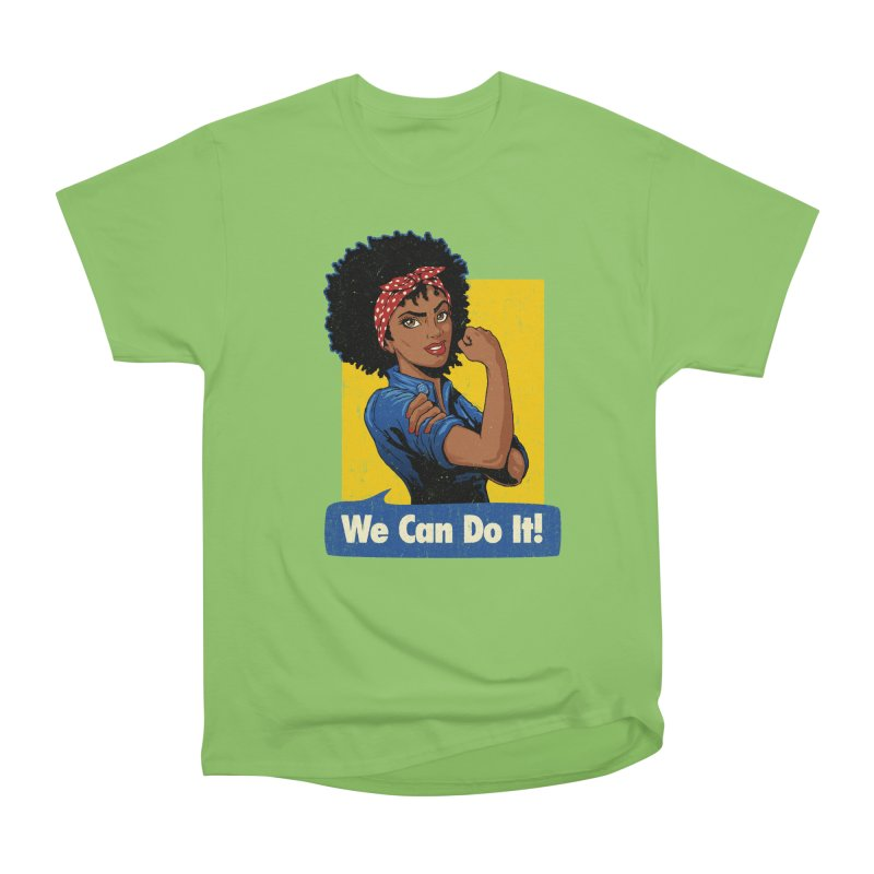 We Can Do It! V2 Women's Heavyweight Unisex T-Shirt by Vó Maria's Artist Shop