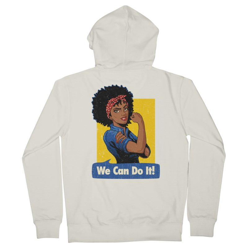 We Can Do It! V2 Women's French Terry Zip-Up Hoody by Vó Maria's Artist Shop