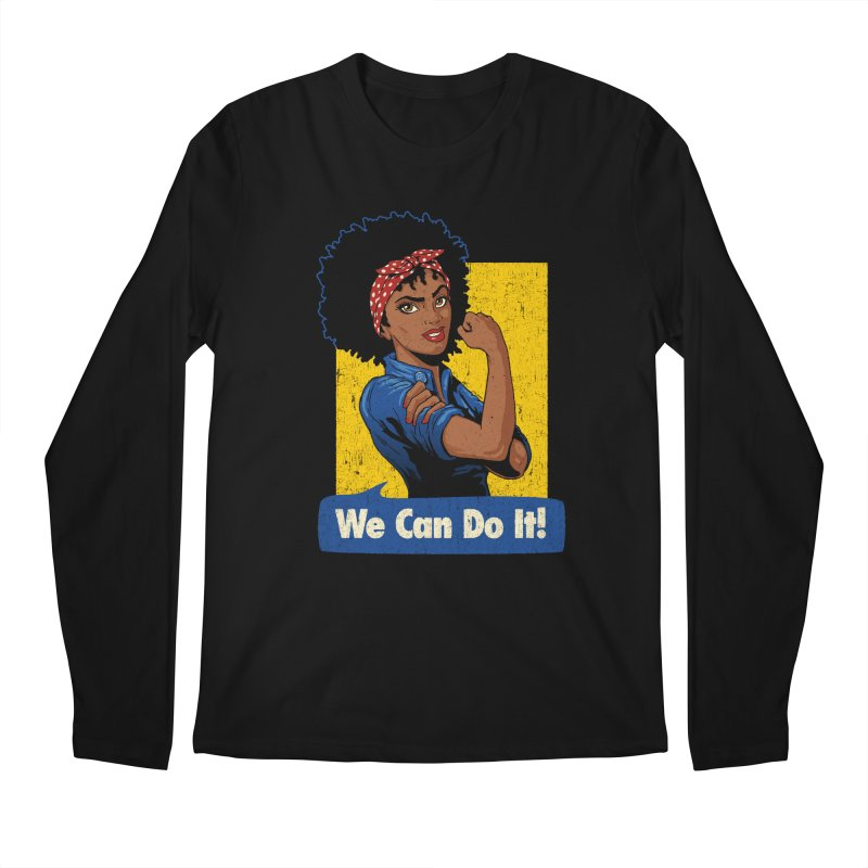 We Can Do It! V2 Men's Regular Longsleeve T-Shirt by Vó Maria's Artist Shop