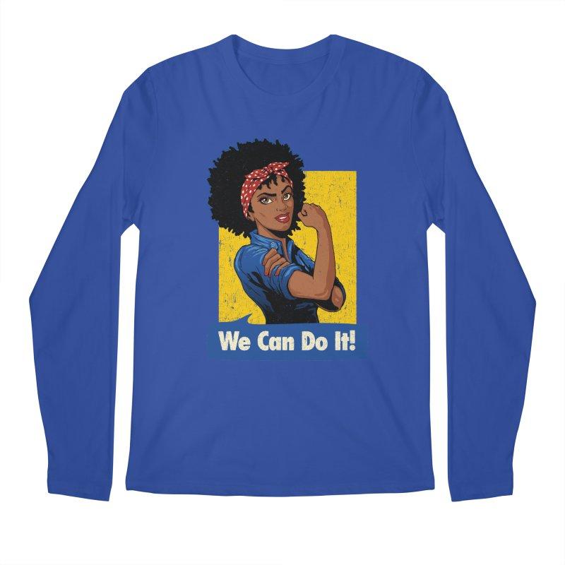 We Can Do It! V2 Men's Regular Longsleeve T-Shirt by Vó Maria's Artist Shop
