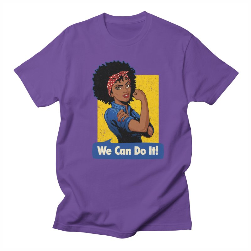 We Can Do It! V2 Men's Regular T-Shirt by Vó Maria's Artist Shop