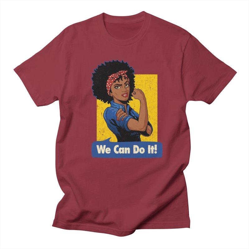 We Can Do It! V2 Men's Regular T-Shirt by Vó Maria's Artist Shop