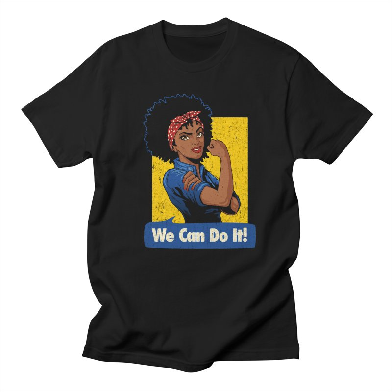 We Can Do It! V2 Women's Regular Unisex T-Shirt by Vó Maria's Artist Shop