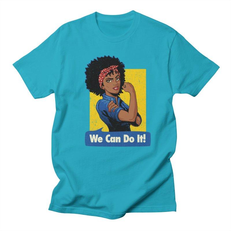 We Can Do It! V2 Men's T-Shirt by Vó Maria's Artist Shop