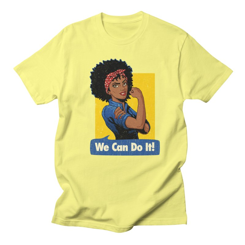 We Can Do It! V2 Women's Regular Unisex T-Shirt by Vó Maria's Artist Shop