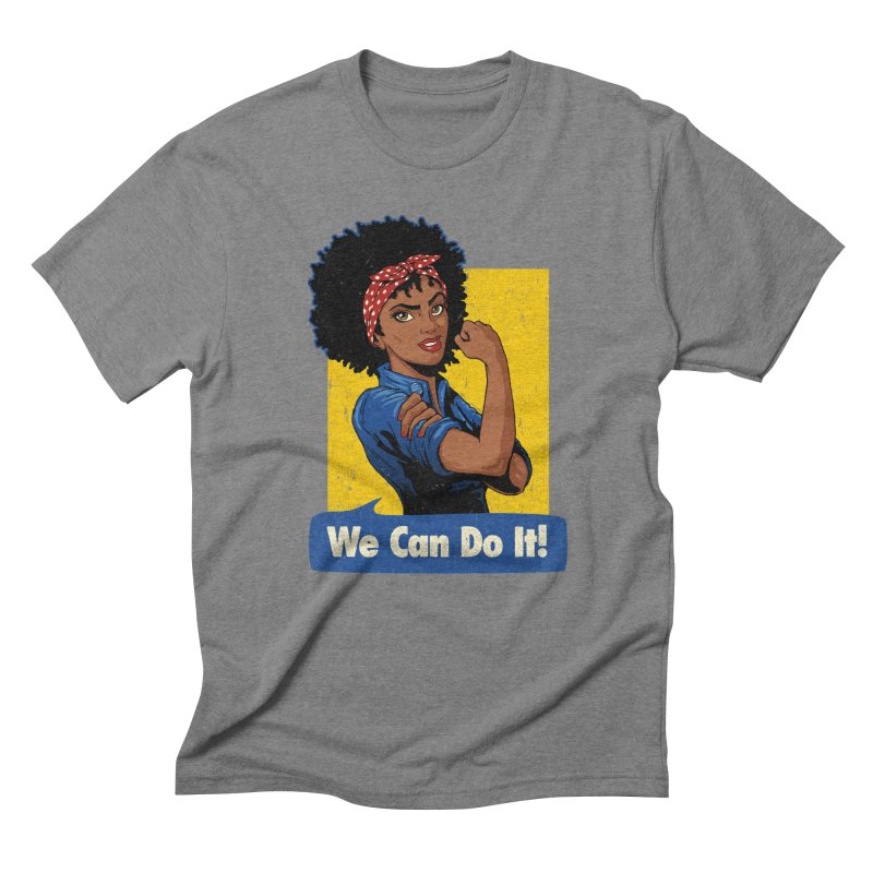 We Can Do It! V2 Men's Triblend T-Shirt by Vó Maria's Artist Shop