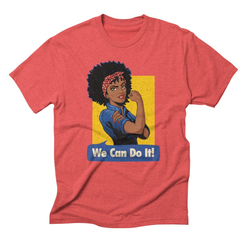 We Can Do It! V2 Men's Triblend T-Shirt by Vó Maria's Artist Shop