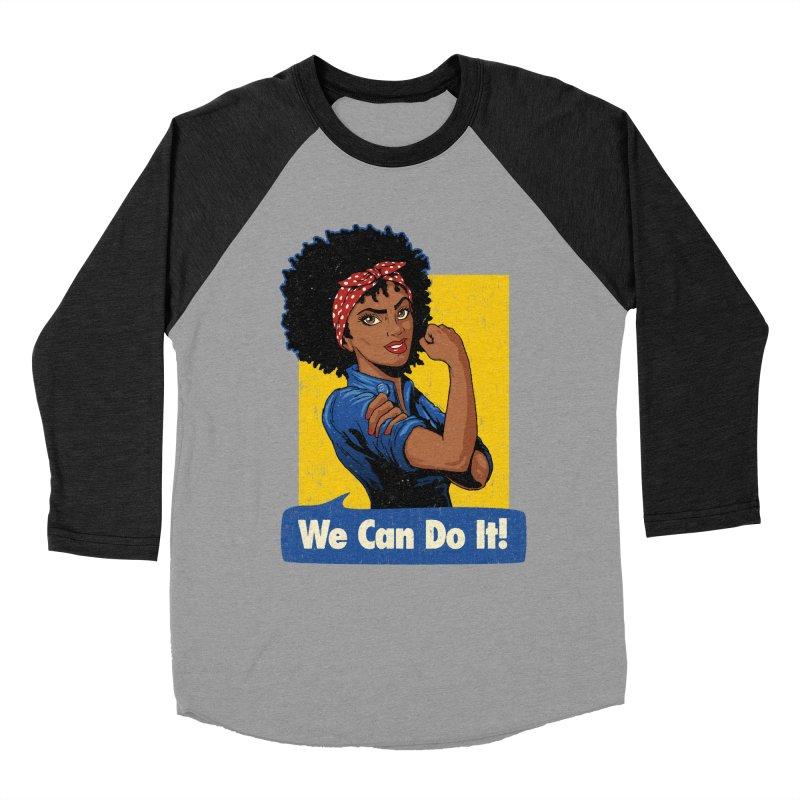 We Can Do It! V2 Men's Baseball Triblend Longsleeve T-Shirt by Vó Maria's Artist Shop