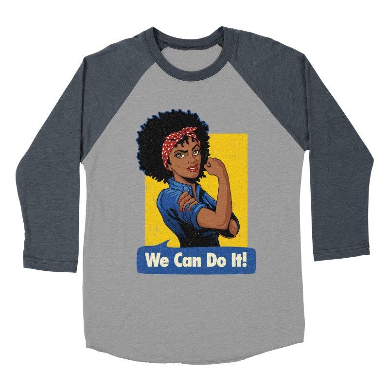 We Can Do It! V2 Men's Baseball Triblend T-Shirt by Vó Maria's Artist Shop