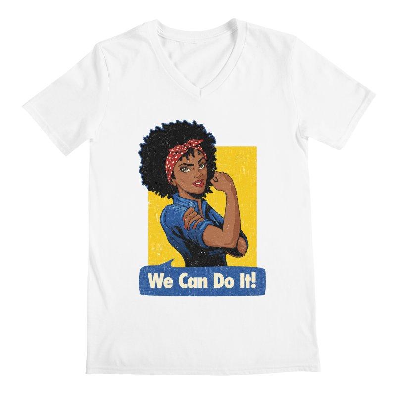We Can Do It! V2 Men's V-Neck by Vó Maria's Artist Shop
