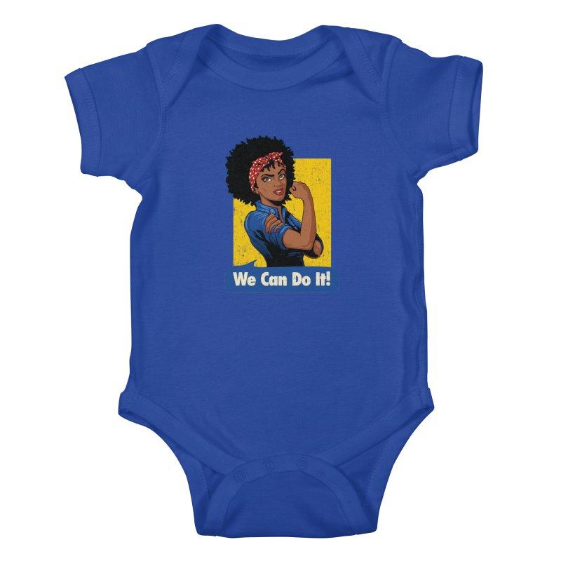 We Can Do It! V2 Kids Baby Bodysuit by Vó Maria's Artist Shop