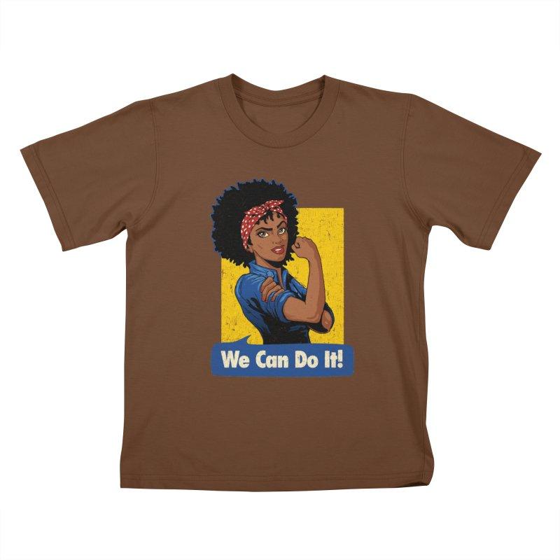 We Can Do It! V2 Kids T-Shirt by Vó Maria's Artist Shop