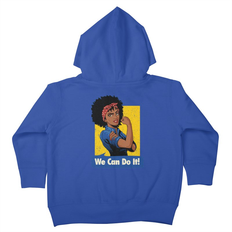 We Can Do It! V2 Kids Toddler Zip-Up Hoody by Vó Maria's Artist Shop