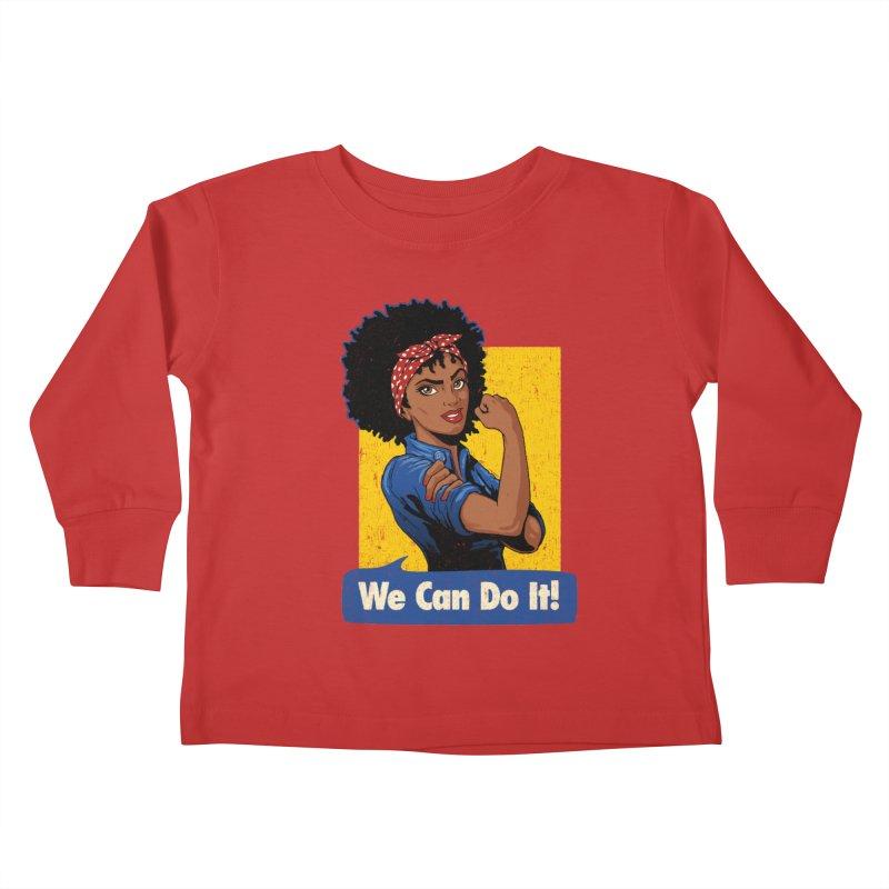 We Can Do It! V2 Kids Toddler Longsleeve T-Shirt by Vó Maria's Artist Shop