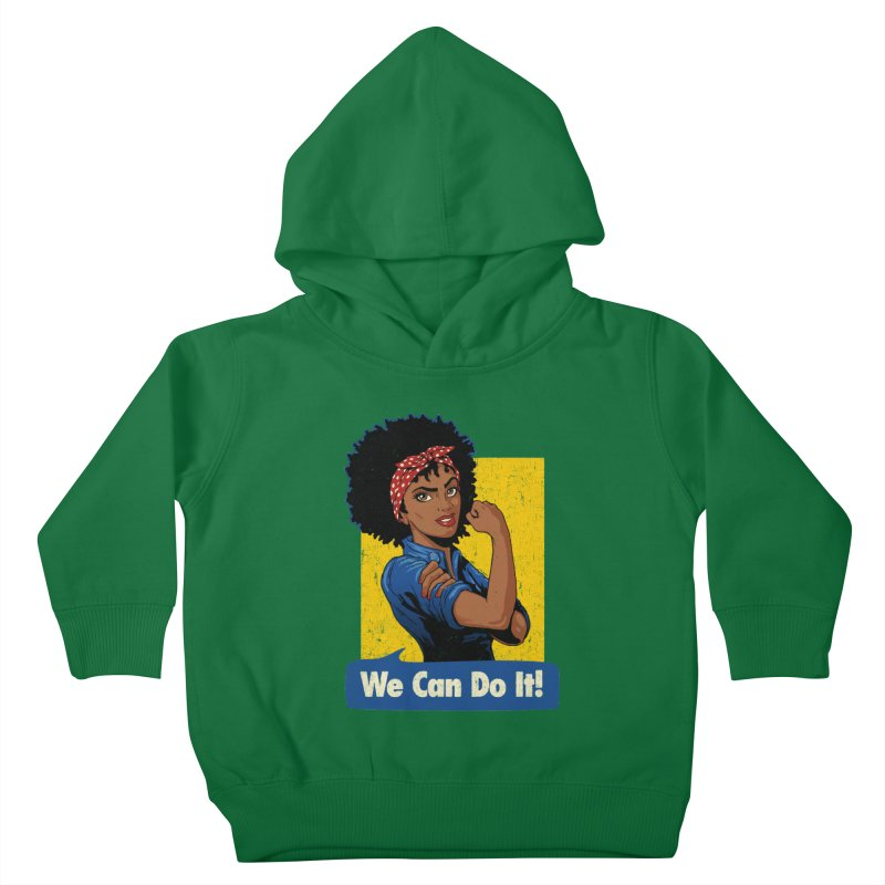 We Can Do It! V2 Kids Toddler Pullover Hoody by Vó Maria's Artist Shop