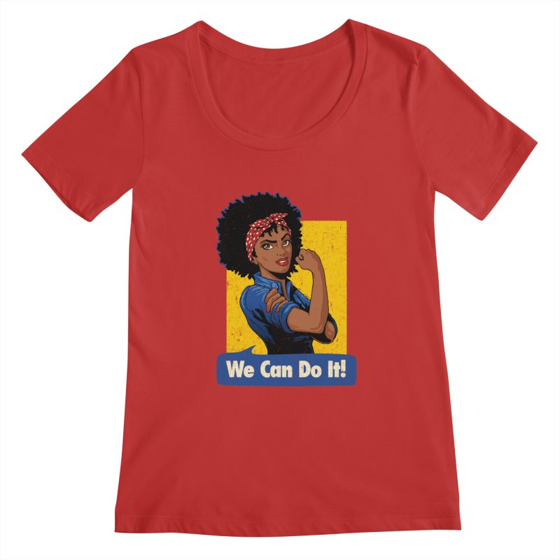 We Can Do It! V2 Women's Regular Scoop Neck by Vó Maria's Artist Shop