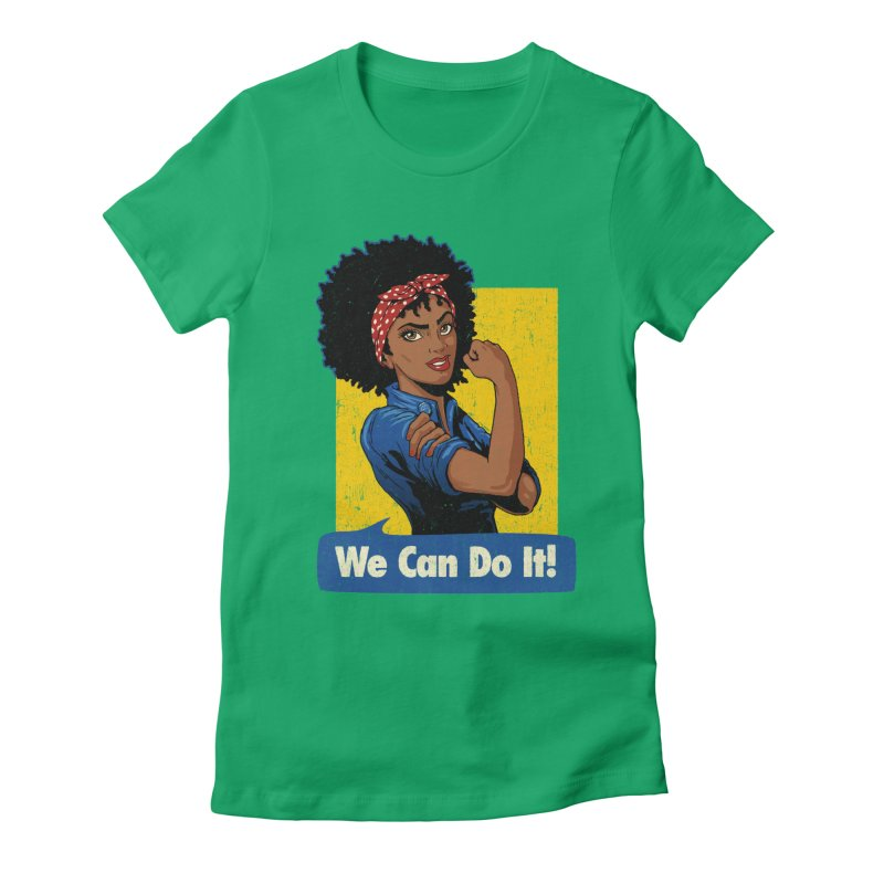 We Can Do It! V2 Women's Fitted T-Shirt by Vó Maria's Artist Shop