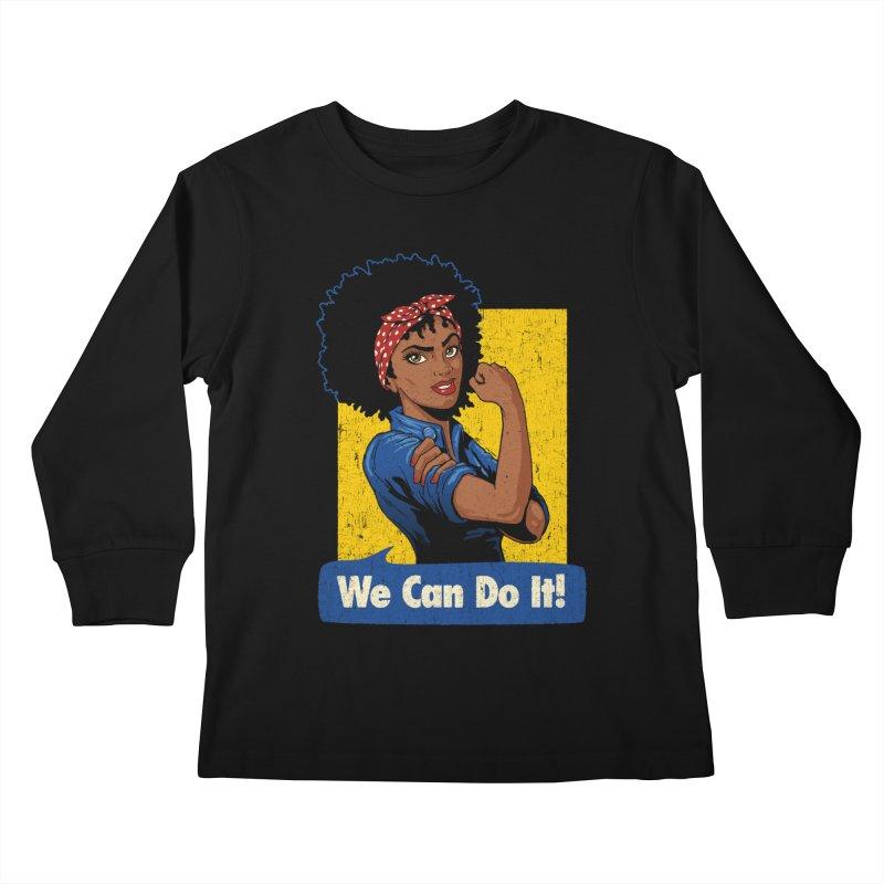 We Can Do It! V2 Kids Longsleeve T-Shirt by Vó Maria's Artist Shop