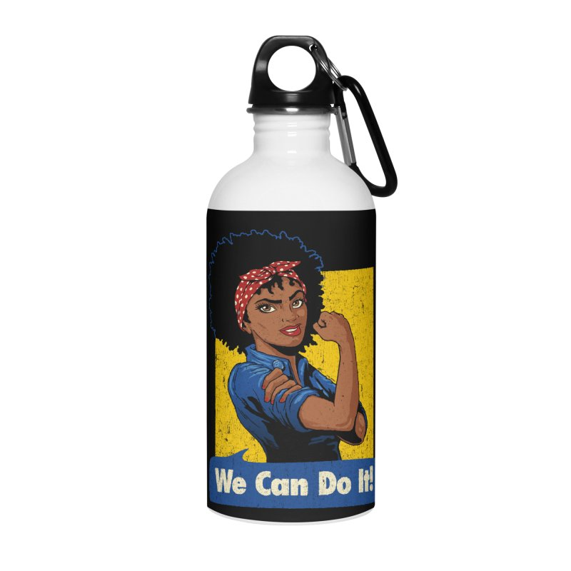 We Can Do It! V2 Accessories Water Bottle by Vó Maria's Artist Shop