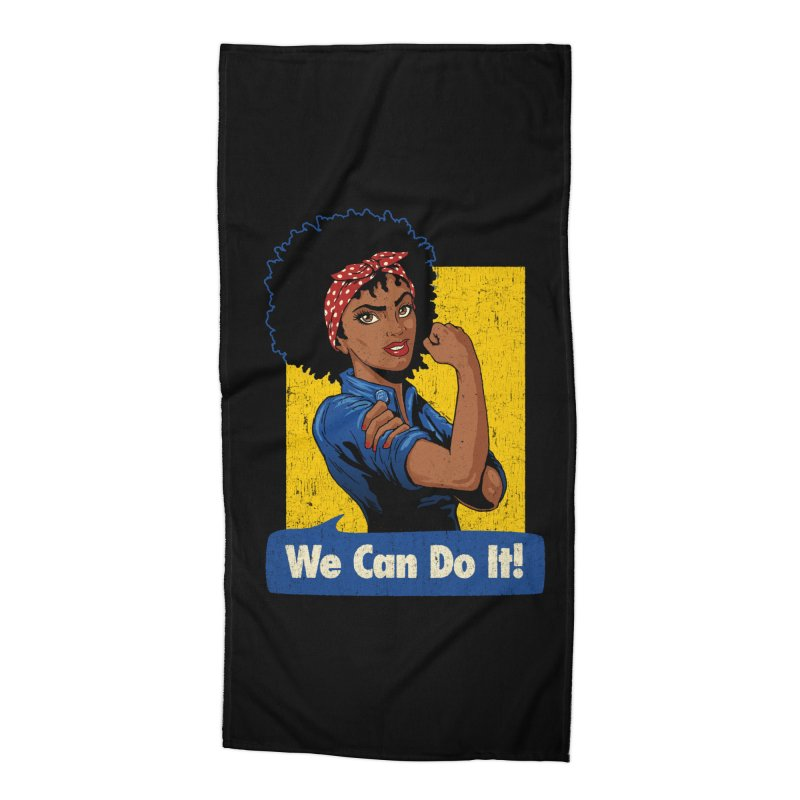 We Can Do It! V2 Accessories Beach Towel by Vó Maria's Artist Shop