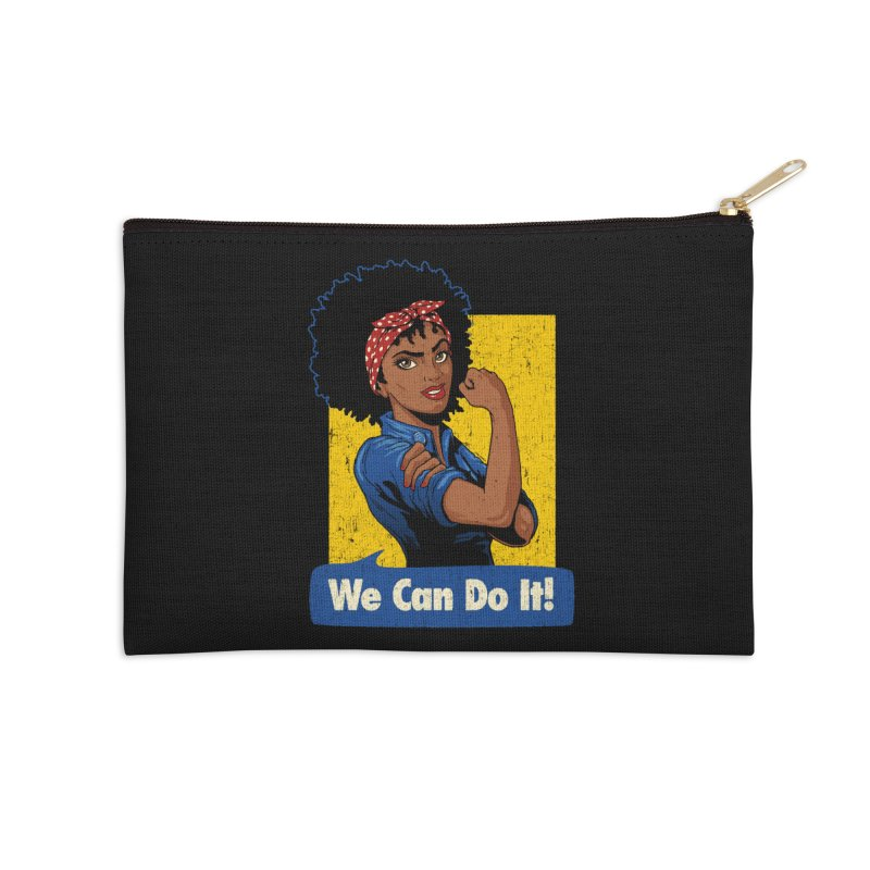 We Can Do It! V2 Accessories Zip Pouch by Vó Maria's Artist Shop