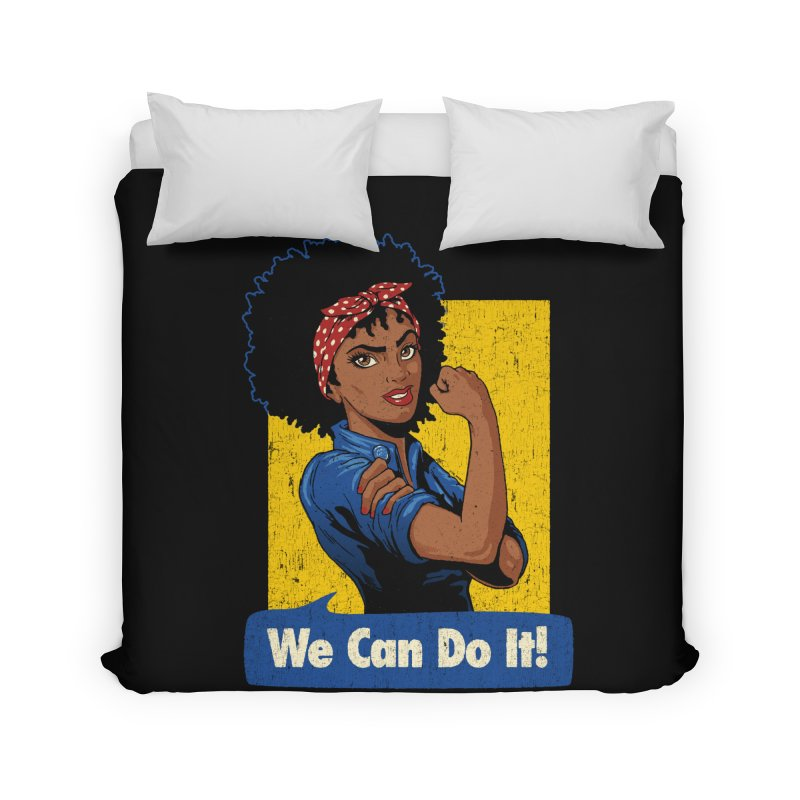 We Can Do It! V2 Home Duvet by Vó Maria's Artist Shop