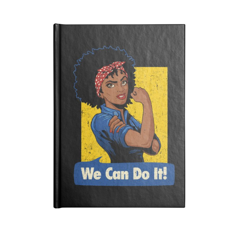 We Can Do It! V2 Accessories Notebook by Vó Maria's Artist Shop