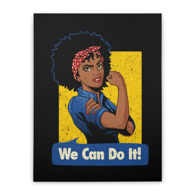 We Can Do It! V2 Home Stretched Canvas by Vó Maria's Artist Shop