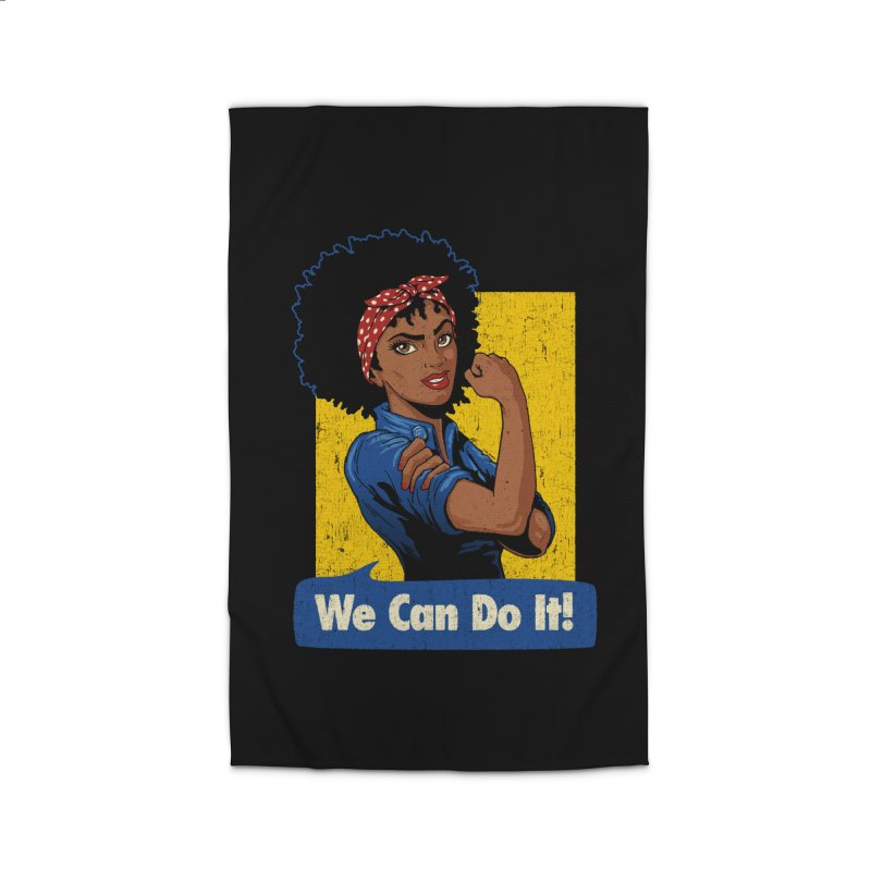 We Can Do It! V2 Home Rug by Vó Maria's Artist Shop