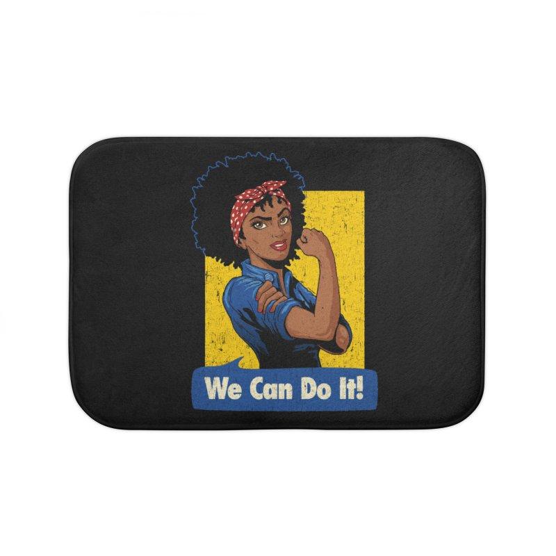 We Can Do It! V2 Home Bath Mat by Vó Maria's Artist Shop