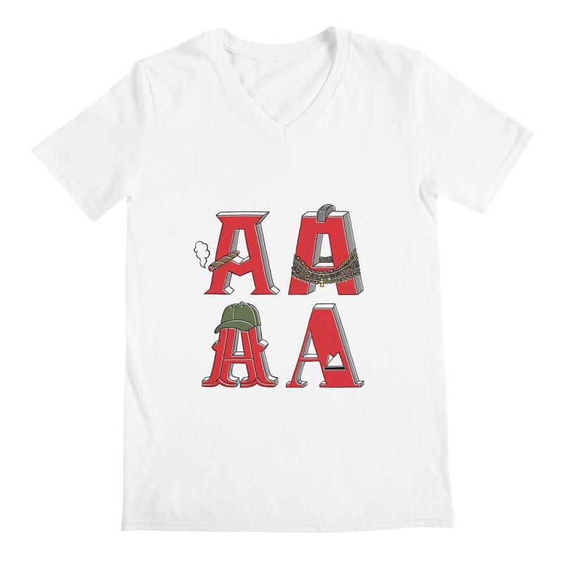 A-Team Men's V-Neck by vonbrandis's Artist Shop