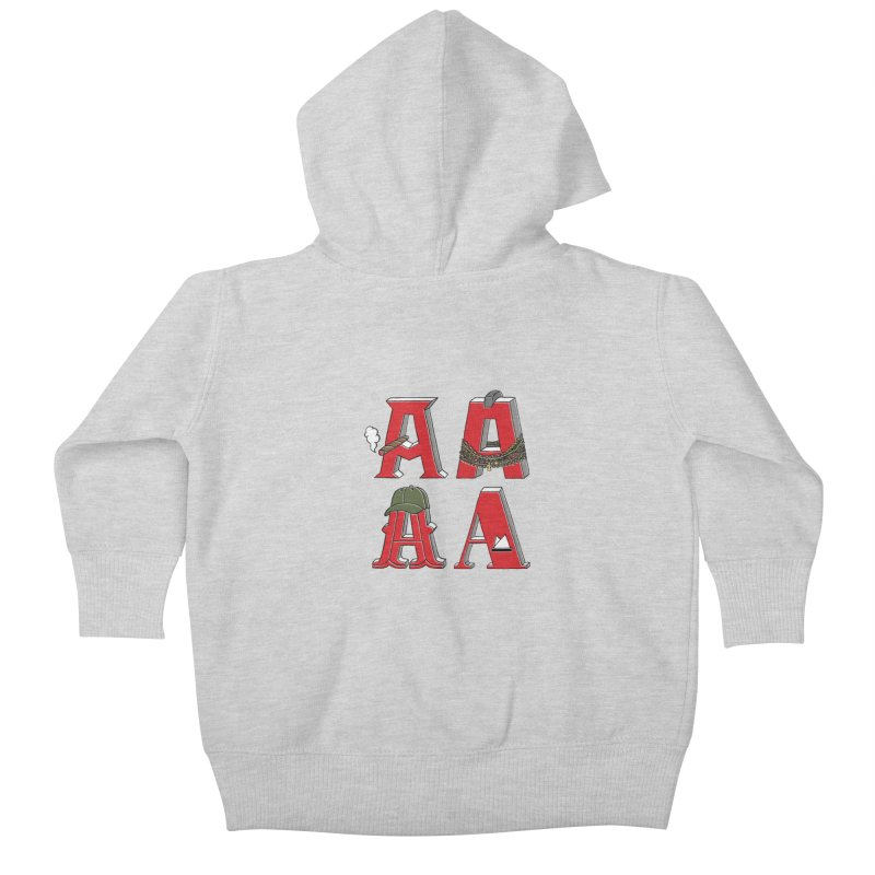 A-Team Kids Baby Zip-Up Hoody by vonbrandis's Artist Shop
