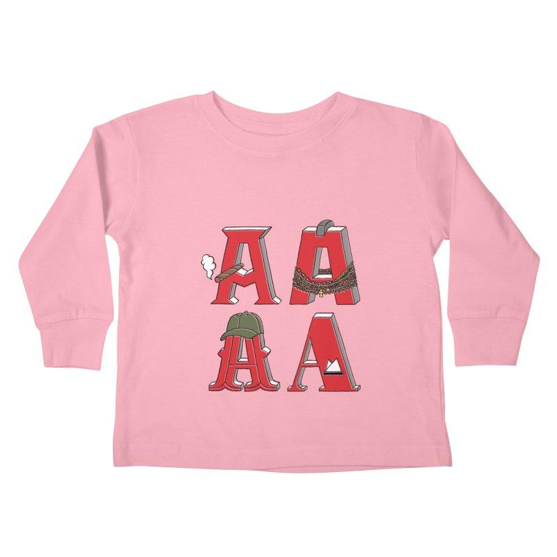 A-Team Kids Toddler Longsleeve T-Shirt by vonbrandis's Artist Shop