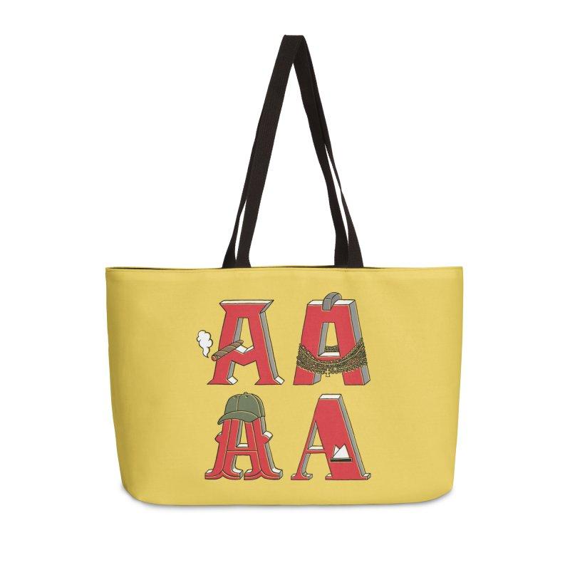 A-Team Accessories Weekender Bag Bag by vonbrandis's Artist Shop