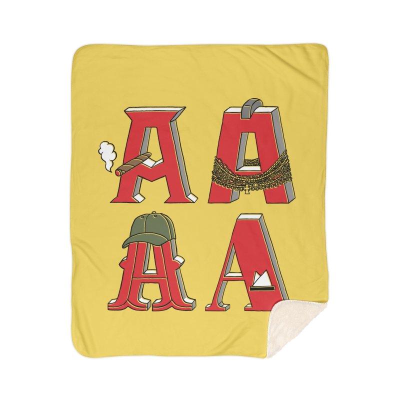 A-Team Home Sherpa Blanket Blanket by vonbrandis's Artist Shop