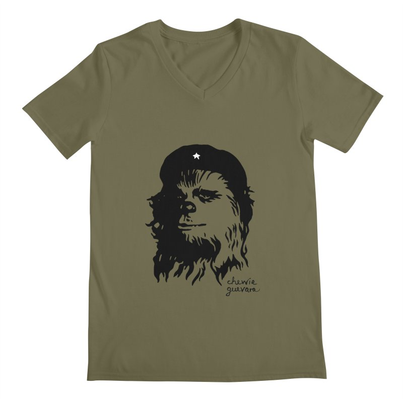 Chewie Guevara Men's Regular V-Neck by vonbrandis's Artist Shop