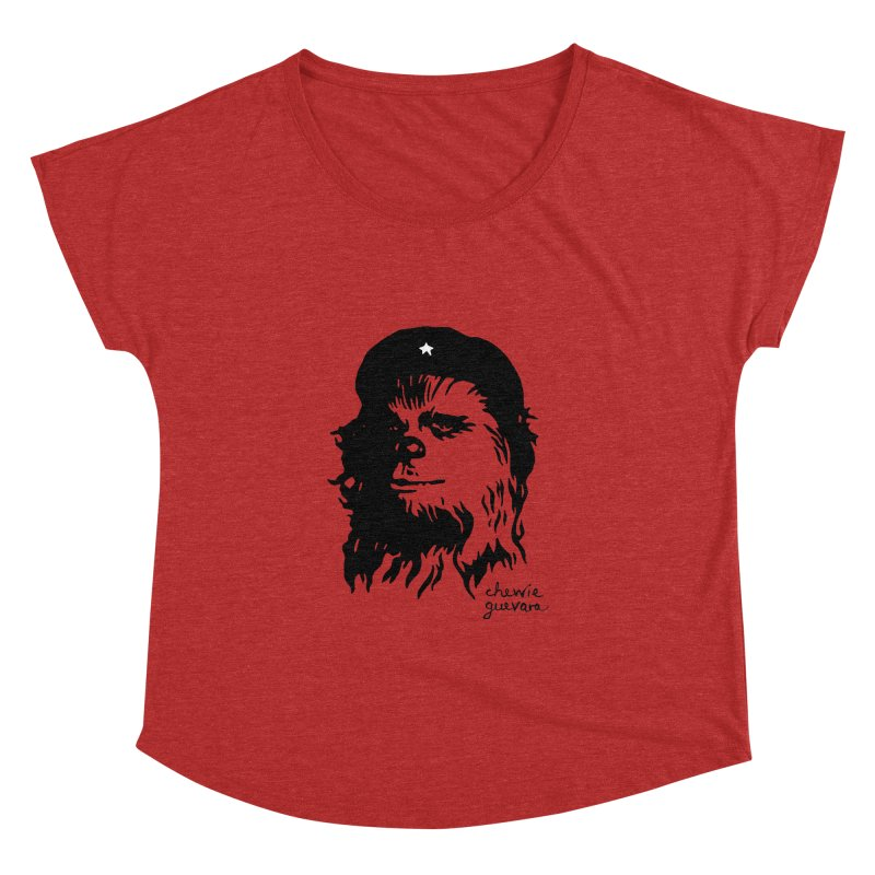 Chewie Guevara Women's Dolman Scoop Neck by vonbrandis's Artist Shop
