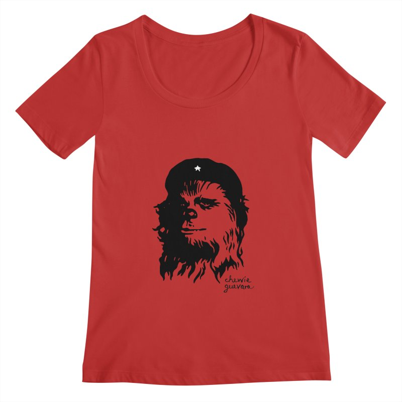Chewie Guevara Women's Regular Scoop Neck by vonbrandis's Artist Shop