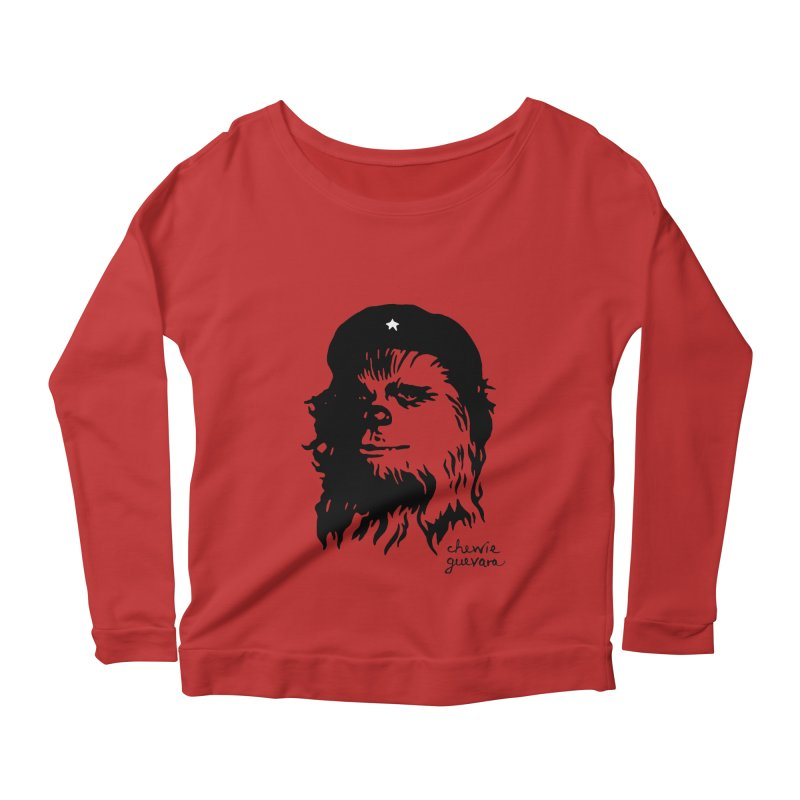 Chewie Guevara Women's Longsleeve Scoopneck  by vonbrandis's Artist Shop