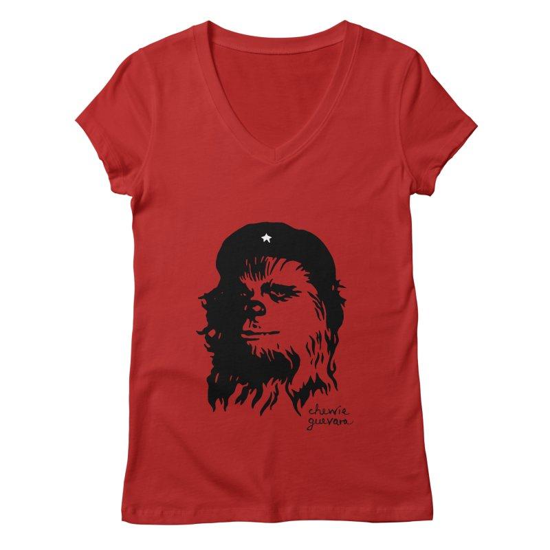 Chewie Guevara Women's V-Neck by vonbrandis's Artist Shop