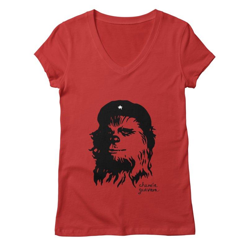 Chewie Guevara Women's Regular V-Neck by vonbrandis's Artist Shop